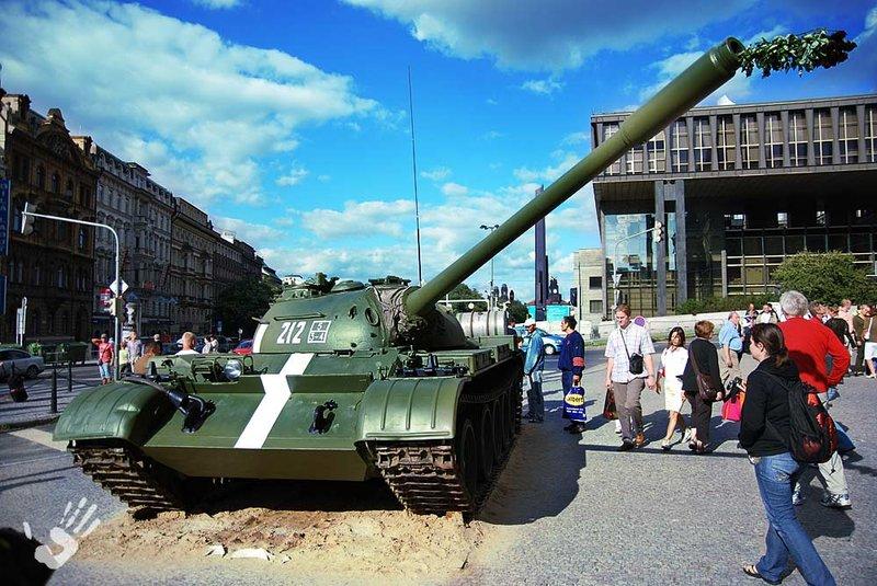 Russian tank on Vaclav Square