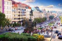 Prague Vaclav Square monument