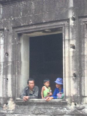 Locals at Angkor Wat