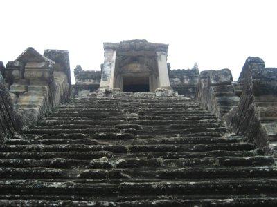 Steep stairs at Angkor Wat