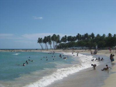 Juan Dolio beach. A beach just outside of the capital city