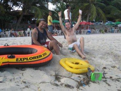 Tuks and Ben at Juan Dolio beach