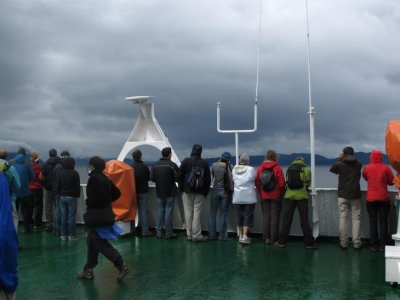 All aboard the navimag viewing deck