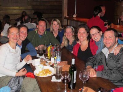 The Navimag gang out to dinner in Puerto Natales