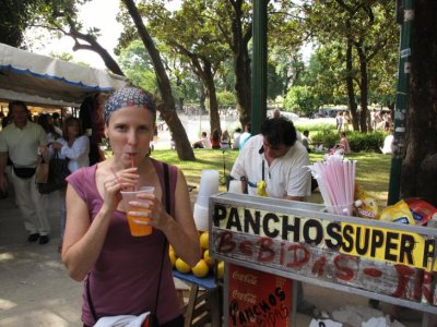 Fresh OJ at the Recoleta markets!