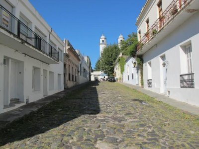 Cobblestone streets of Colonia