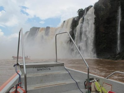 A quick snapshot from the boat before going further into the falls.
