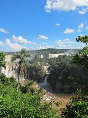 Distant view of the falls from the Brazilian side