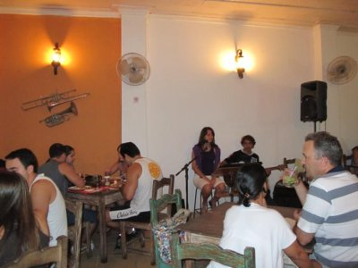 The music cafe in Parati, where we spent our 2 nights with great food and great music