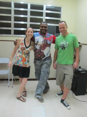 Our very patient Samba teacher