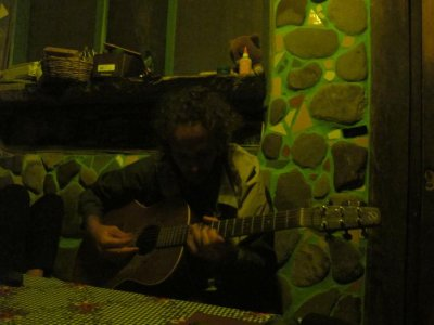 Chris playing some nightly originals for the gringos