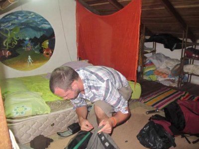 Packing in the loft at Gingers Paradise