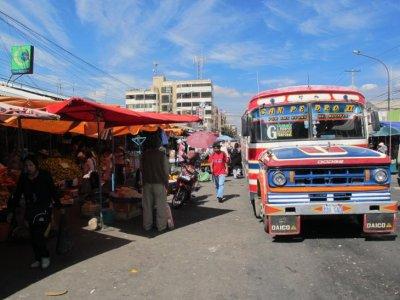 Funky Cochabamba buses