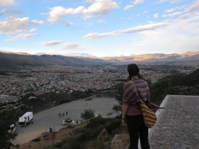 Looking out onto Cochabamba