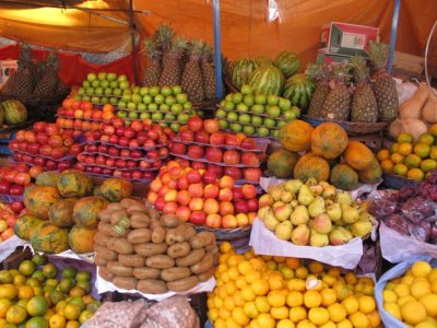Sucre fruit and veg market goodies
