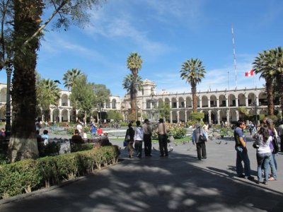 The beautiful main plaza, Arequipa