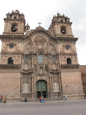 The old Jesuit Church in Cusco