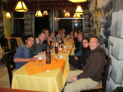 Group dinner on our final night