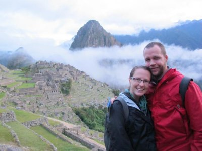 We survived the climb and 3 am start! Early morning at Machu Picchu