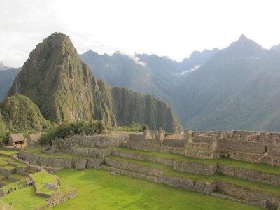 Looking down over the terraced fields