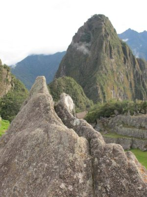 An Incan stone representation, or map, of Machu Picchu