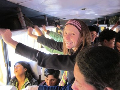 Taking the local bus out to the Sacred Valley was like playing a game of Sardines!