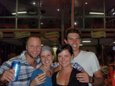 Luke, Tori, Ben and I out on a Rio night