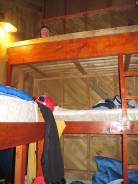 The final mountain to climb for the day: the dorm bunk