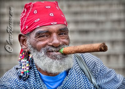A Cuban man and his Cigar