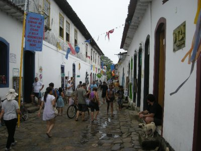 The small streets of old town Paraty