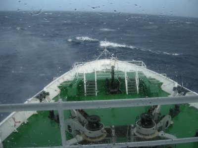 Drake Passage from the Bridge- 5 people out of bed at this stage