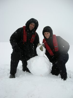 Snow duck on top of Danco Island