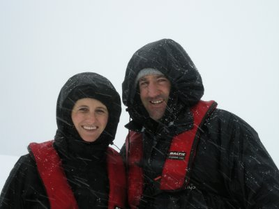 Geared up for snow- Danco Island