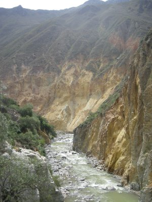 Rough Colca River near the oasis