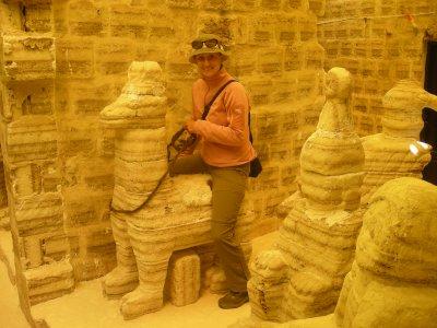Salt scultures in the salt museum