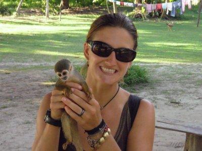 Sarah and pocket monkey