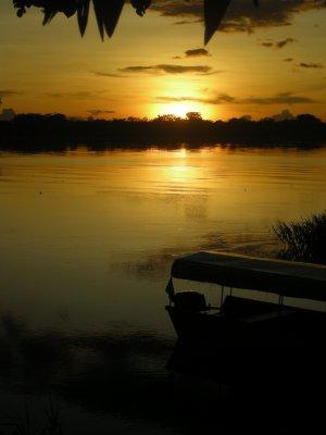 Sunset on Amazon