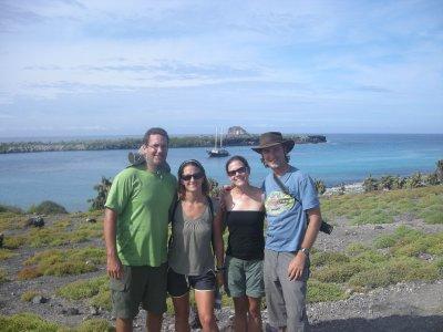 The Angelique crew - Seth, Sarah, Nelle and Adam