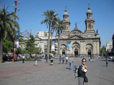 The streets of Santiago
