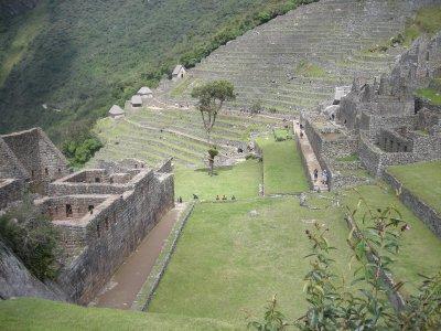 The terraces of Machu Picchu