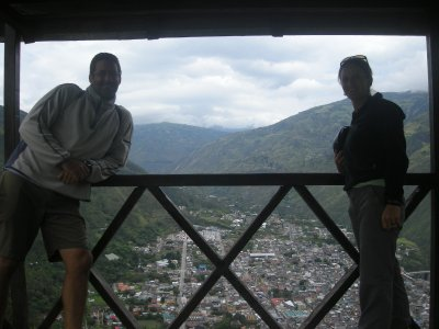 View of Banos from the Casa Del Arbol