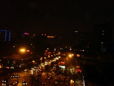 chengdu at night from our hotel window