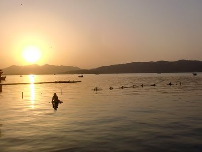 West Lake At Sunset