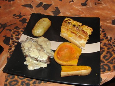 Springbok dinner