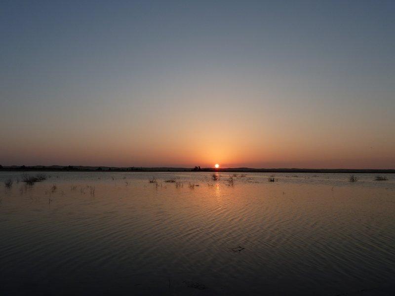sunset at fatnas island