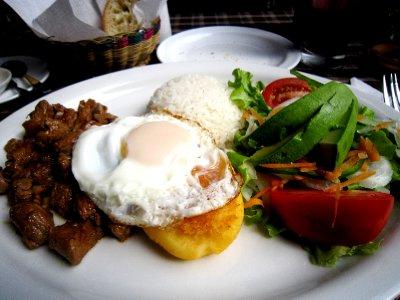 Typical ecuadorian food - Churrasco