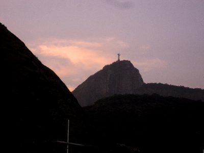 View of Christ the Redeemer from hotel
