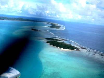 Aitutaki from the air