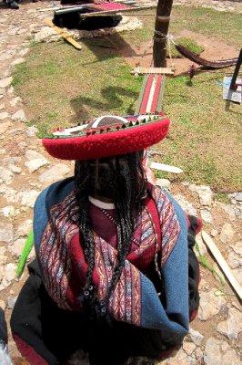 Weaver at Chinchero indiginous village