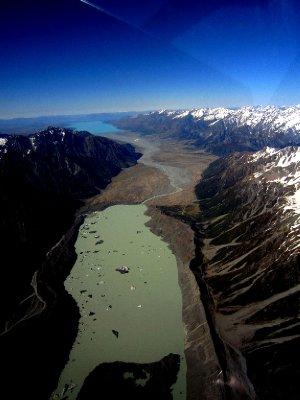 Icebergs from the scenic flight
